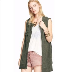 Free People Sub-Knit Highway Vest in Olive